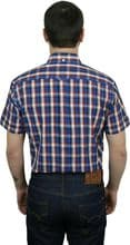 Relco Mens Blue Red Check Short Sleeve Button Down Shirt Spring '21 Range